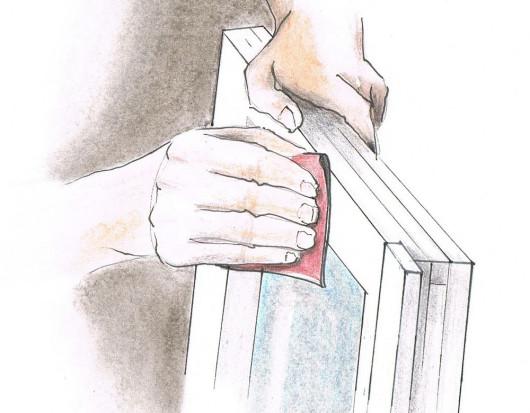 Renowacja drewnianych okien - przygotowanie do malowania