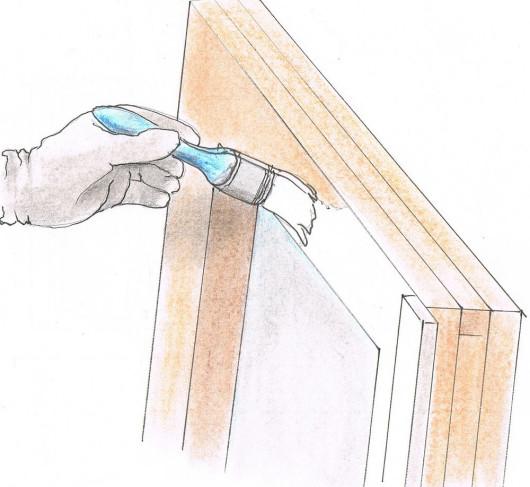 Renowacja drewnianych okien - malowanie