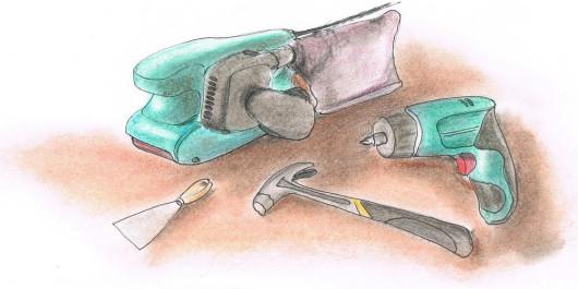Renowacja drewnianych okien - narzędzia