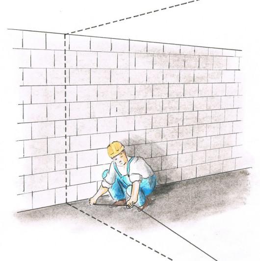 Перегородки из гипсокартона - Размечаем строительные линии