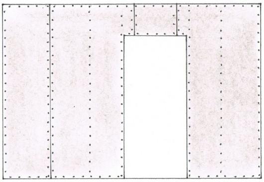 Перегородки из гипсокартона - Одностороннее крепление обшивки