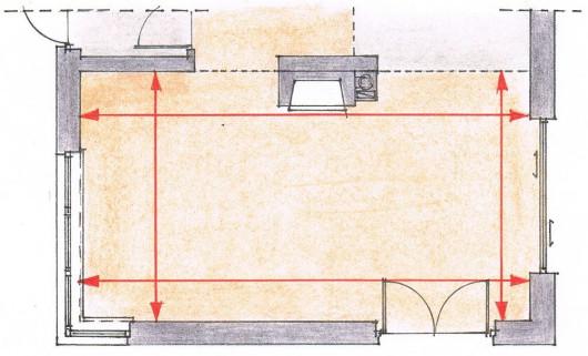 Укладання панелей - крок 3. Ми вимірюємо приміщення