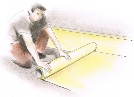 Укладання панелей - крок 4. Ставимо гідроізоляційну ізоляцію