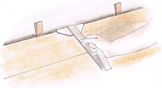 Укладання панелей - крок 9. Відрегулюємо останній ряд