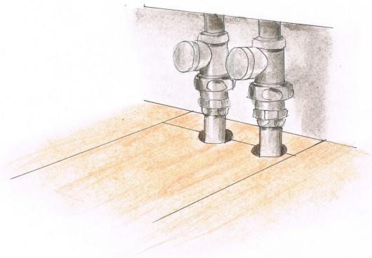Укладання панелей - крок 10. Покладіть панелі навколо труб