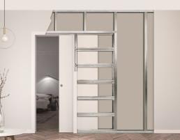Eclisse - drzwi przesuwne chowane w ścianę oraz drzwi rozwierane ukryte