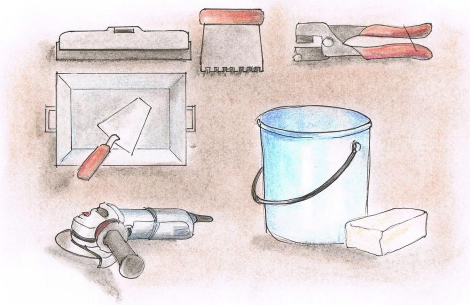 Укладка керамической плитки - Инструменты