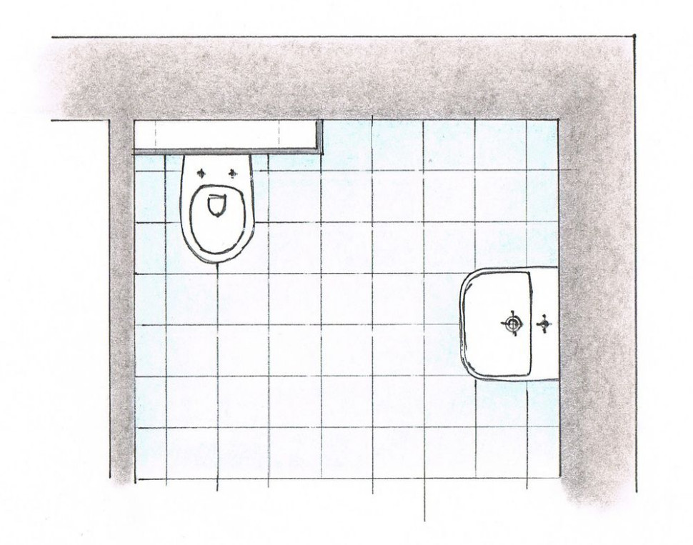 Укладка керамической плитки - Макет
