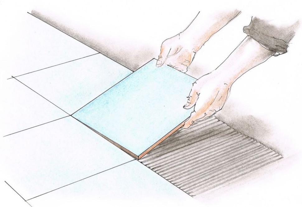 Укладка керамической плитки - Укладка плитки на пол