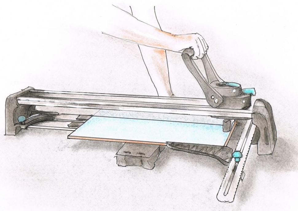 Укладка керамической плитки - резка и сверление
